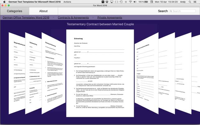 german templates for microsoft word 2016 をmac app storeで