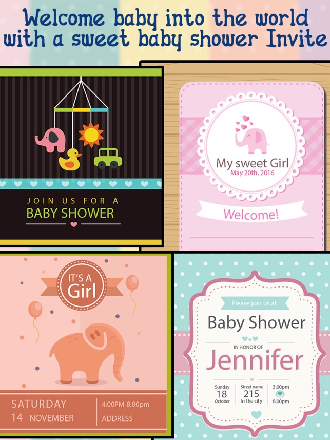 Baby Shower Invitations on the App Store