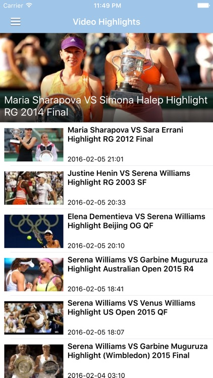 Tennis News & Results Pro screenshot-2