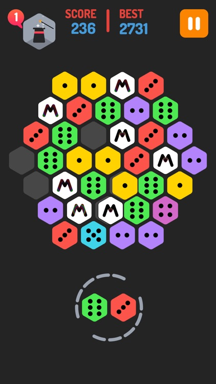 Merge Blocks - Merging hexagon puzzle fun game, rotate and merged screenshot-1