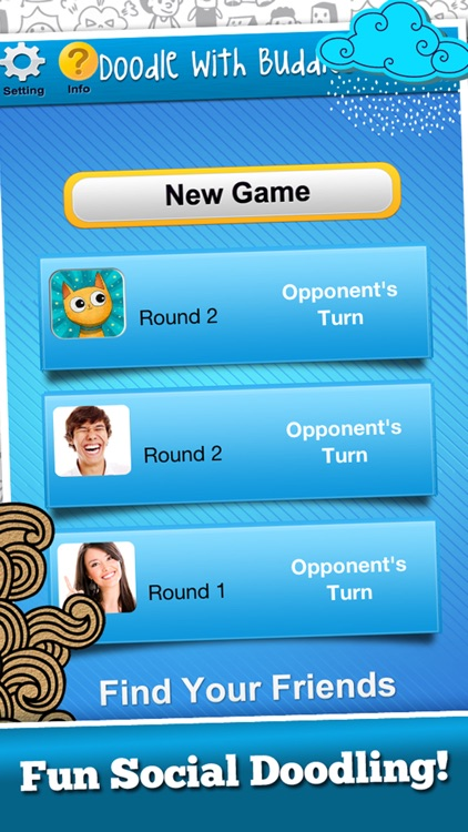 Doodle With Buddies : Fun Social Multi-player Drawing and Guessing Free Addicting Game to Play Family and Friends