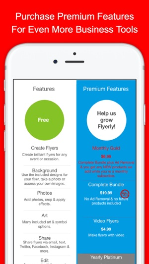 flyerly biz create share flyers for business on the app store