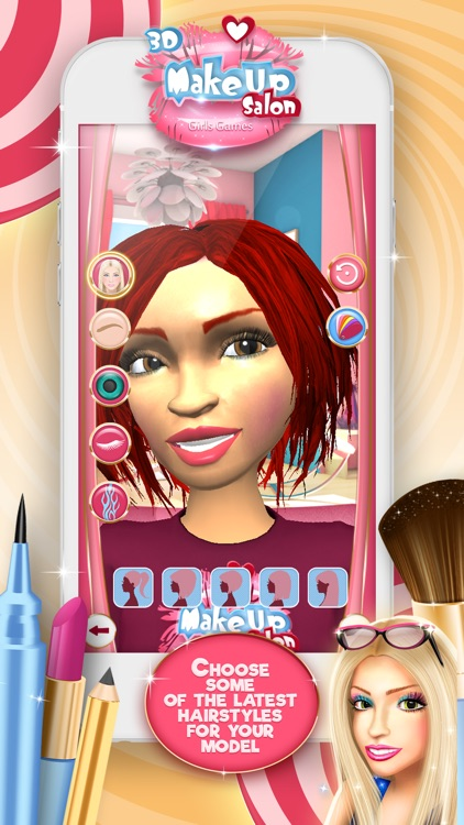 3D Make.Up Salon Girls Game.s: Fashion Dress.up Stylist and Beauty Model Make.over screenshot-3