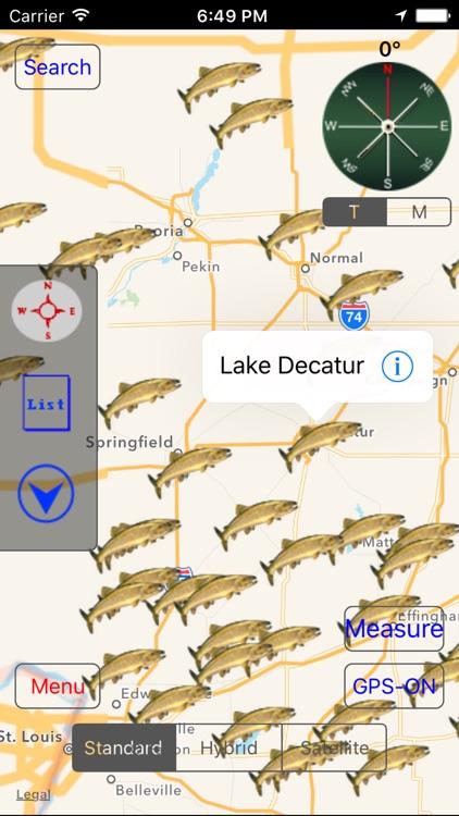 Illinois: Fishing Lakes