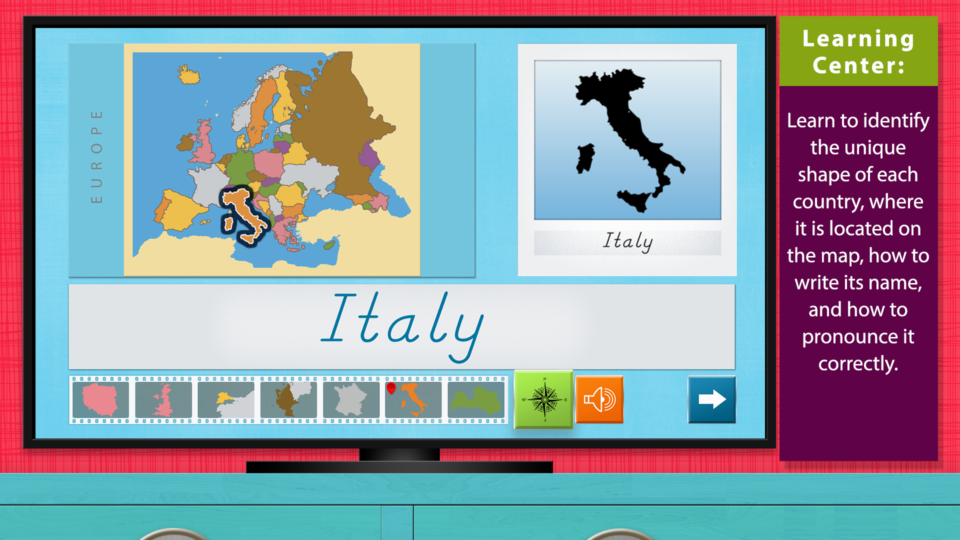 Europe - Geography by Mobile Montessori screenshot 1