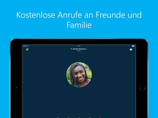 Skype für iPad Screenshot