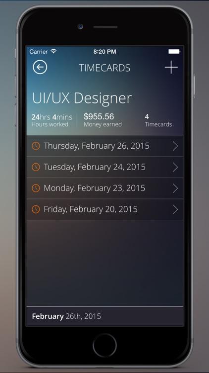 Timecard Pro - Hours & Work Schedule Tracking screenshot-3