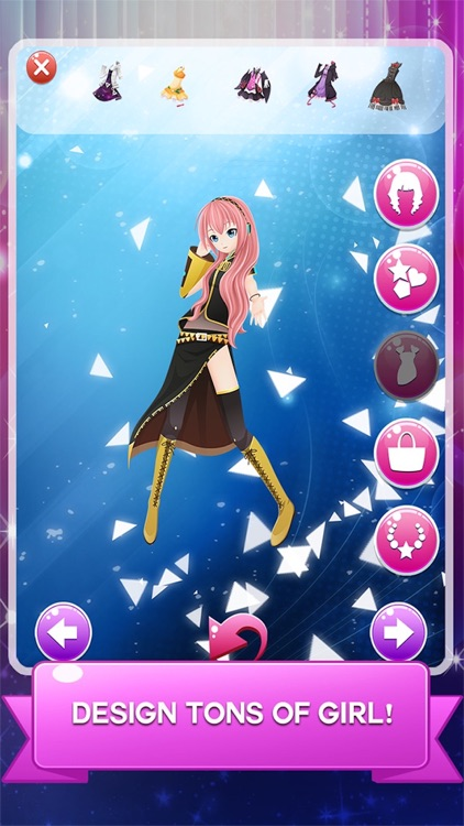 """Dress-up """" DIVA Vocaloid """" The Hatsune miku and rika and Rin salon and make up anime games"""