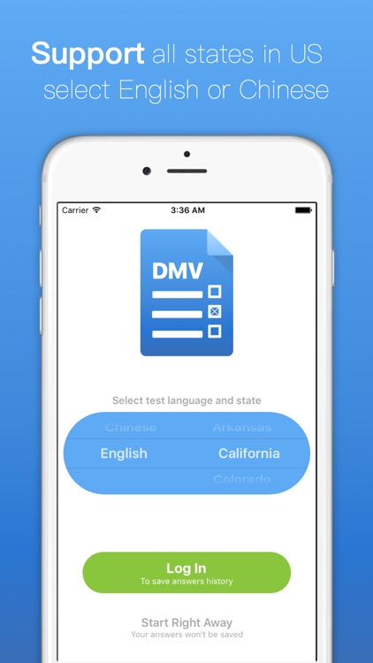 Test for DMV - Driving Permit Practice States 2017