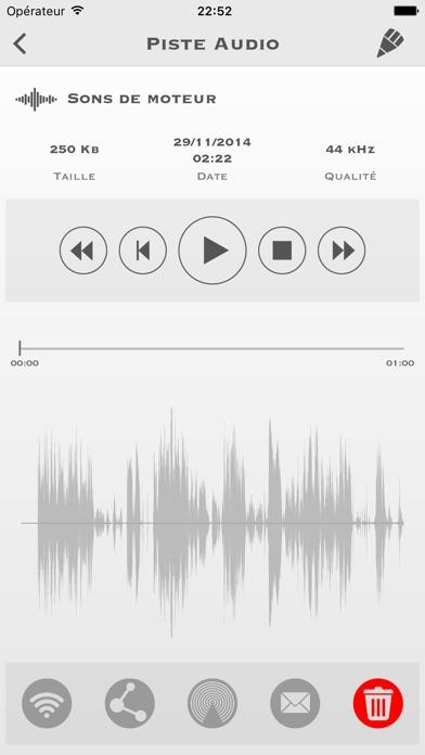 Screenshot #1 pour My Rec - Enregistreur Audio