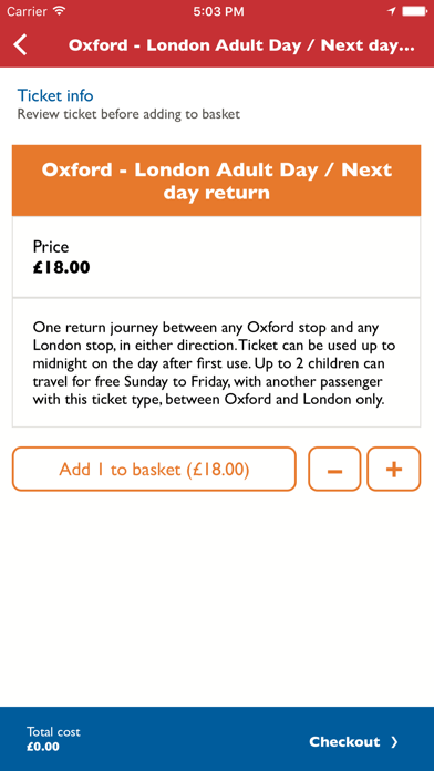 Oxford Tube Mobile Ticket screenshot three