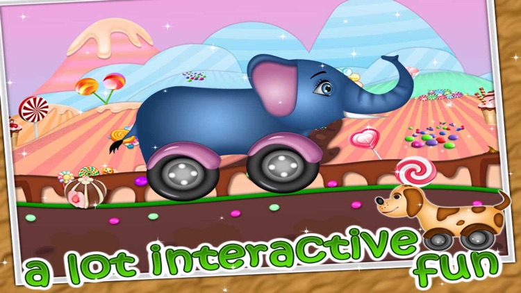 Kidzee - Animal Cars Racing Game for Kids screenshot-3