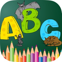 ABC Animals Coloring Book Painting Games for Toddler Preschool and Kids