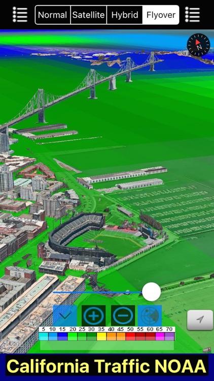 California NOAA Radar and Traffic Camera 3D Pro screenshot-4