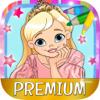 Malen Sie an Prinzessinnen magisch Puppen malen und anmalen  - Premium