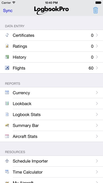 Logbook Pro Flight Logbook review screenshots