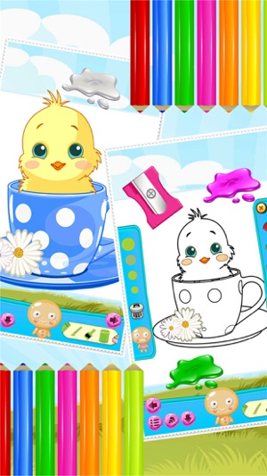 Little Chick Coloring Book Drawing And Paint Art Studio Game For Kids Easter Day On The App Store