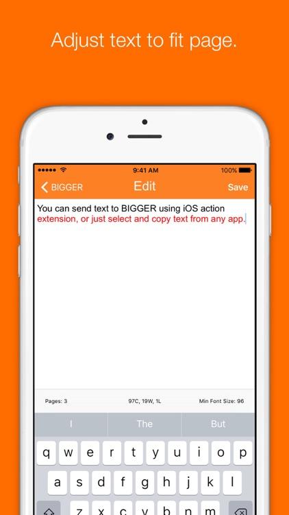Bigger - Large Text Display