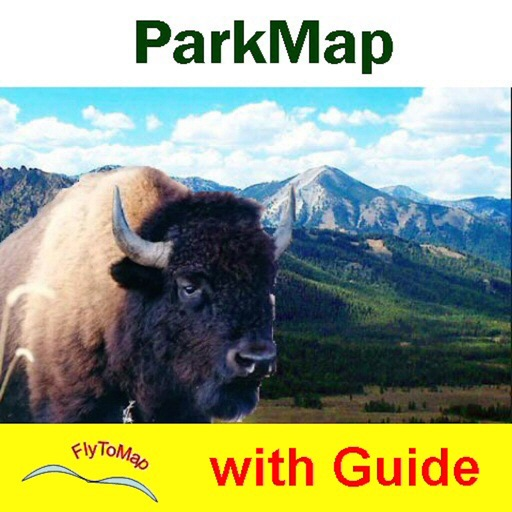 Bryce Canyon National Park gps and outdoor map with Guide