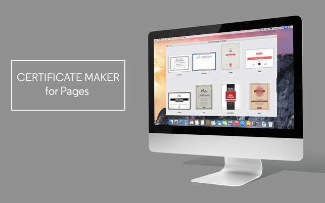 Certificate maker for pages on the mac app store screenshots yadclub Image collections