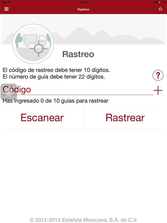 Estafeta móvil en App Store