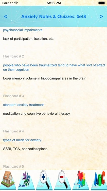 Anxiety Types, Symptomes & Medication: 2000 notes & quiz