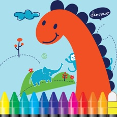 Activities of Dino Coloring and ABC 123 Tracing Games for kids practice