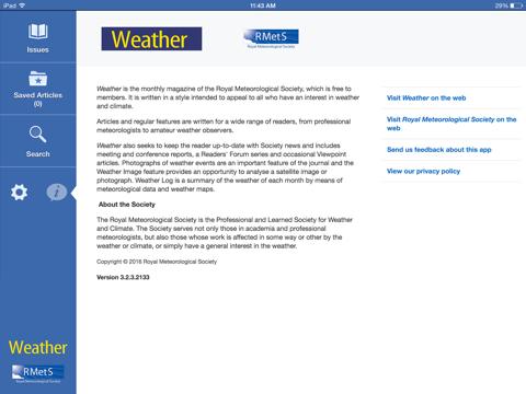 Screenshot of Weather Journal App