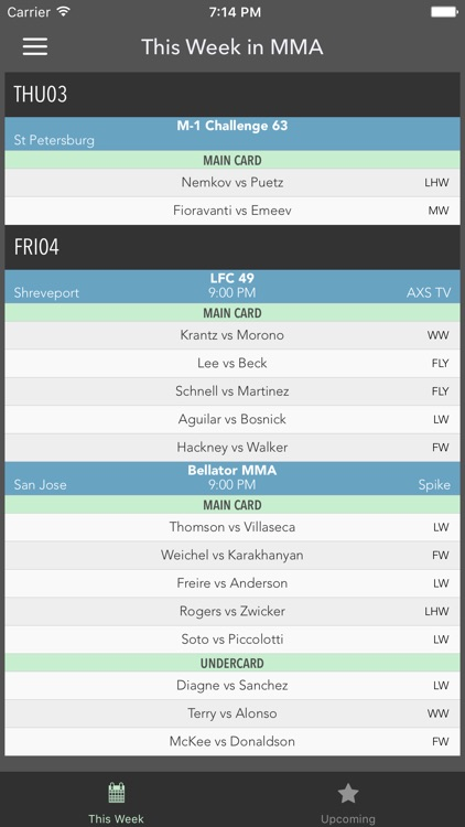 UppercutMMA - Upcoming MMA Fight Schedule