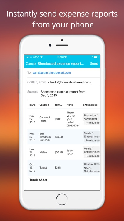 Shoeboxed Receipt Tracker screenshot-3