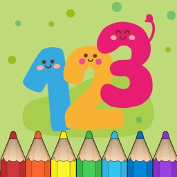 123 Number Coloring Book for Children