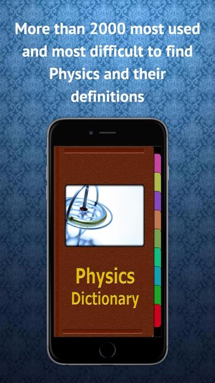 Physics Dictionary