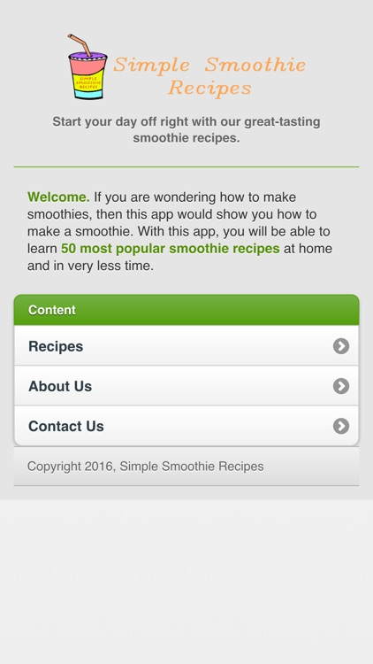 Simple Smoothie Recipes DA