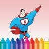 超级英雄人女孩外星人与怪物图画书为孩子