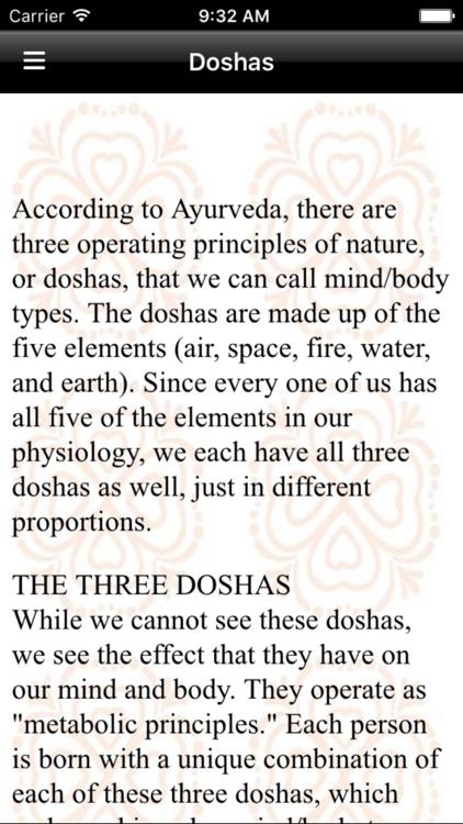 Ayurveda Dosha Diet screenshot-3