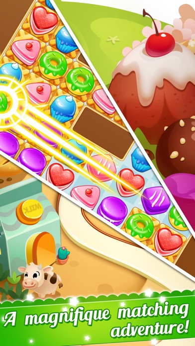 Cookie Fever 2 - Blast candy to win the scrubby pet screenshot three