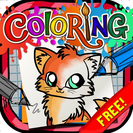 Coloring Book : Painting Pictures Chi Chi Love Pets  Cartoon Free Edition