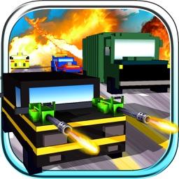 Blocky Road Blaster - 3D ( Fun Race & Shoot Game )