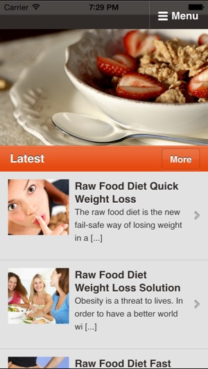 Raw food diet discover the health benefits of raw foods on the app screenshots forumfinder Choice Image