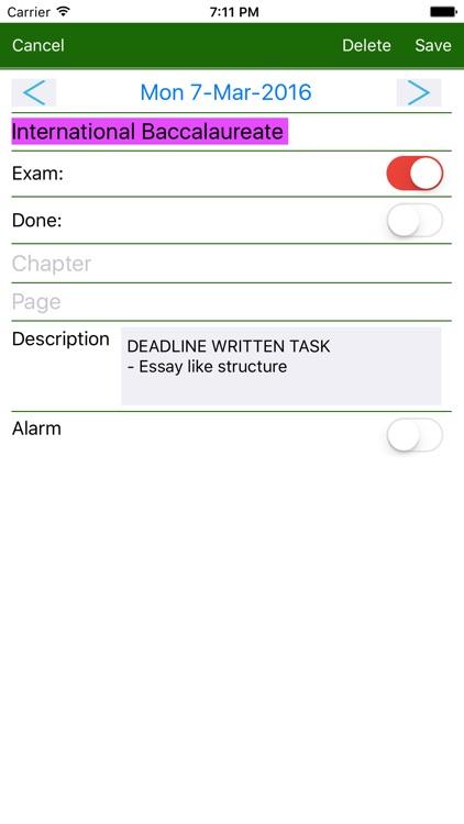HomeWork & Timetable App screenshot-3