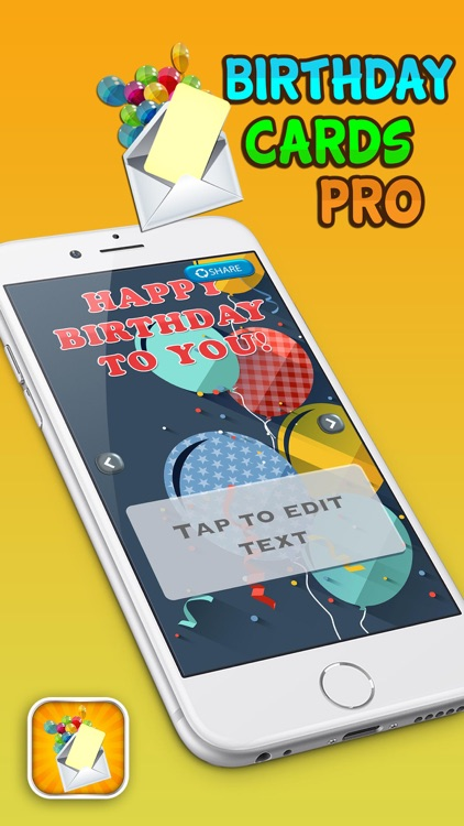 Birthday Cards Pro – Make Happy Bday Greeting e–Card and Party Invitation.s