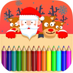 christmas coloring book - drawing & painting pages for preschool kids