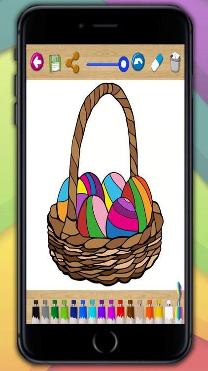 Painting Easter - coloring book eggs and rabbits screenshot-4