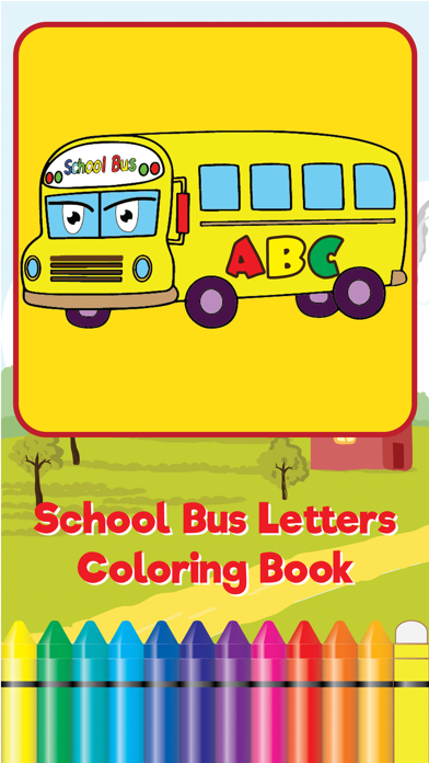 ABC Learning My Alphabet School Bus Coloring Book