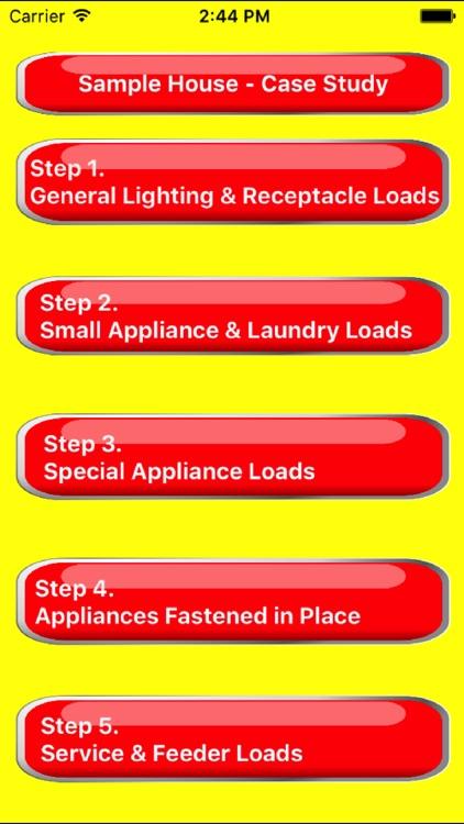 Electrical Load Calculator & Electrical Plan Example screenshot-4