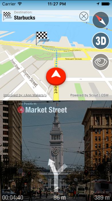 Offline Maps Globe + Voice Navigator and Video Dash Cam Screenshot