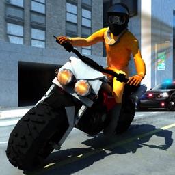 Prison Escape: Traffic Police Chase Motorbike Rider