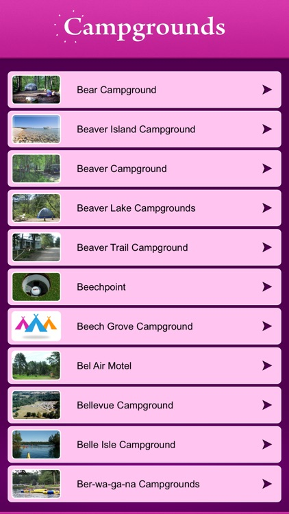 Michigan Campgrounds and RV Parks screenshot-1