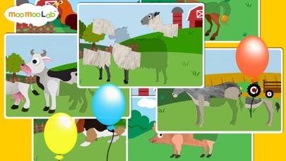 点击获取Farm Animals - Barnyard Animal Puzzles, Animal Sounds, and Activities for Toddler and Preschool Kids by Moo Moo Lab