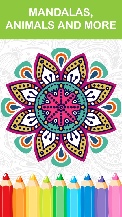 mandala coloring book - adult colors therapy free stress relieving pages